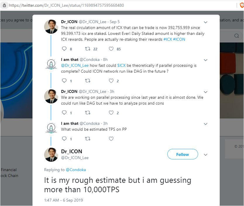 ICX whale Dr Ben Lee dreaming of 10,000 transactions per second on ICON blockchain